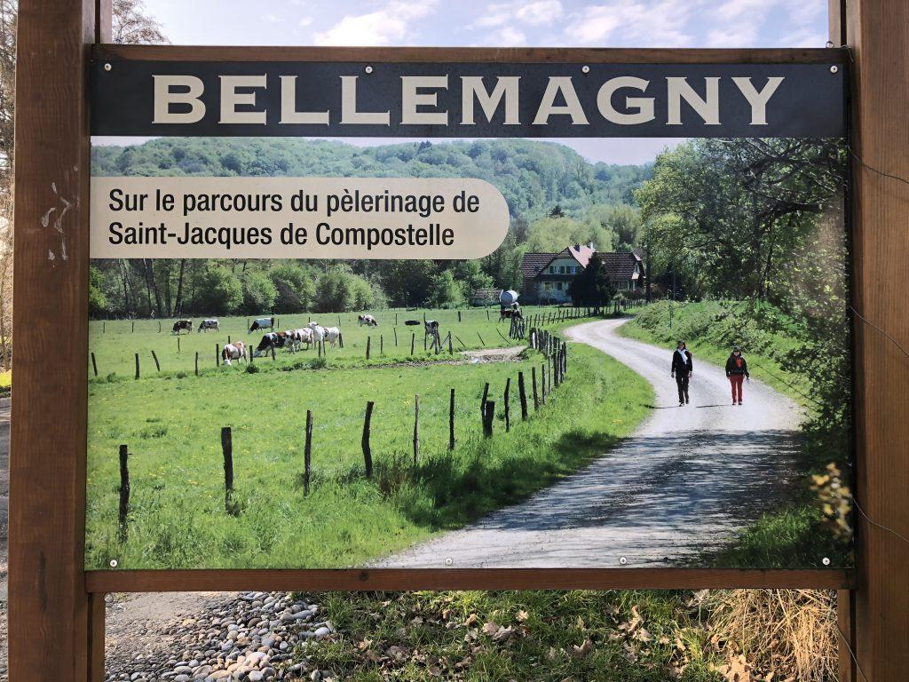Schild in Bellemagny
