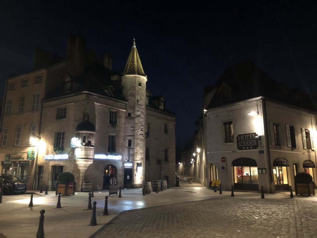 Beaune by night