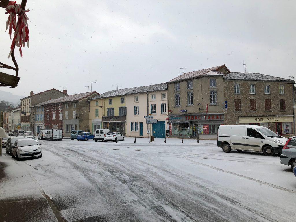 Schnee in Tramayes