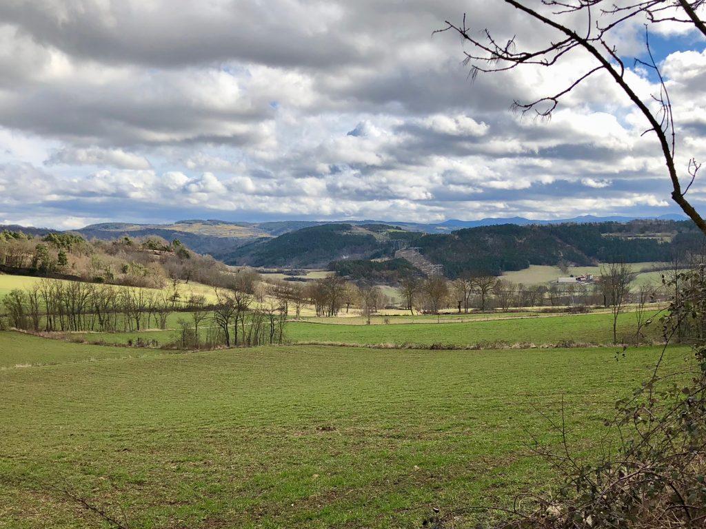 Ausblick in die Auvergne